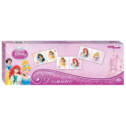 Настольная игра Step puzzle Домино Принцессы (new) (Disney) настольная игра step puzzle домино disney тачки 80107