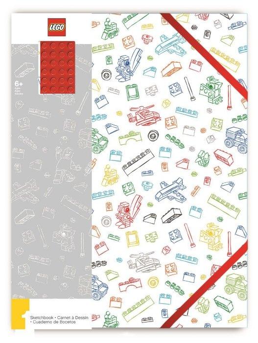 Блокнот LEGO A4 (96 листов), красный