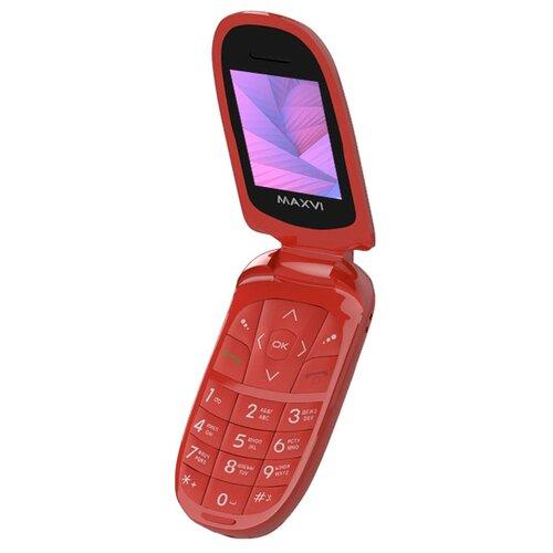 Телефон MAXVI E1 красный