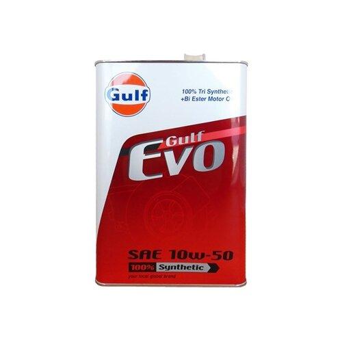 Моторное масло Gulf Evo 10W-50 4 л моторное масло gulf multi g 20w 50 4 л
