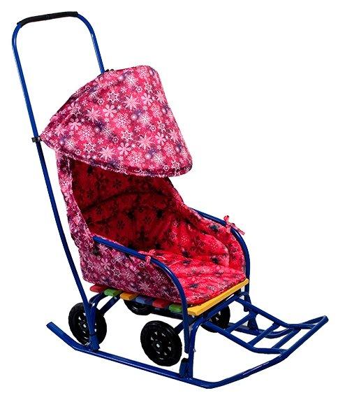 Санки-коляска Моё детство Снежинки (МД-СМ02)