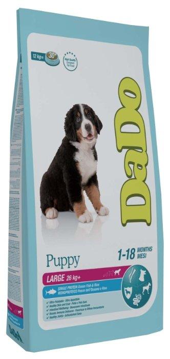 Корм для собак DaDo Для щенков крупных пород с океанической рыбой и рисом