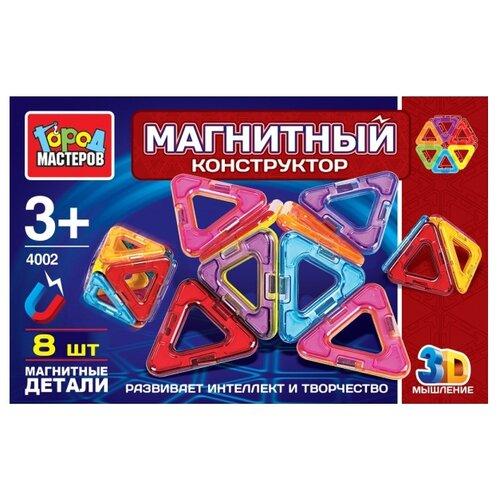 Купить Магнитный конструктор ГОРОД МАСТЕРОВ Магнитный 4002, Конструкторы