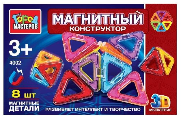 Магнитный конструктор ГОРОД МАСТЕРОВ Магнитный 4002