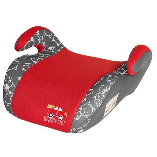 Бустер группа 2/3 (15-36 кг) Little Car Smart, красный/коты автокресло группа 1 2 3 9 36 кг little car ally с перфорацией черный