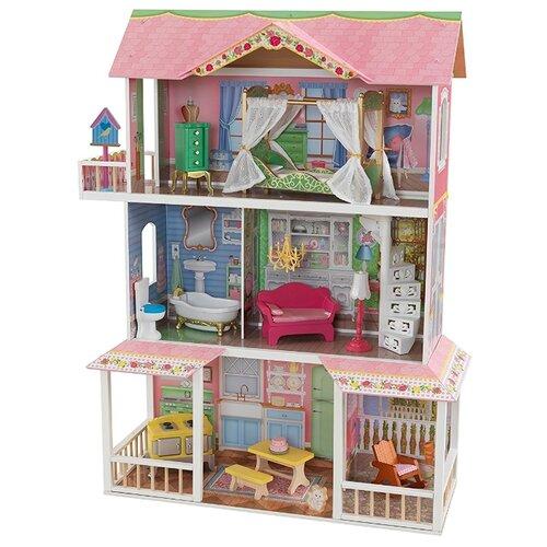 Купить KidKraft кукольный домик Карамельная саванна 65851, розовый/зеленый, Кукольные домики