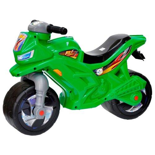 Каталка-толокар Orion Toys Мотоцикл 2-х колесный (501) зеленый каталка толокар orion toys мотоцикл 2 х колесный 501 зеленый