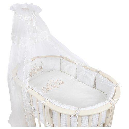 Pituso комплект для овальной кроватки Звездочка (6 предметов) бежевыйПостельное белье и комплекты<br>