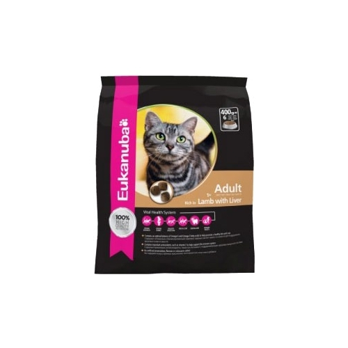 Корм для кошек Eukanuba Adult Dry Cat Food Healthy Digestion Lamb & Liver (0.4 кг)