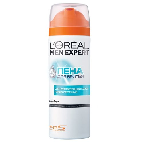 Пена для бритья для чувствительной кожи гипоаллергенная LOreal Paris 200 млСредства для бритья<br>