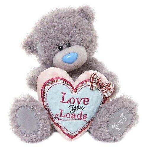 Мягкая игрушка Me to you Мишка Тедди с сердцем Love you loads 20 см
