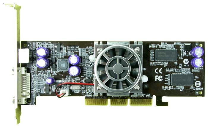 Aopen GeForce FX 5700 LE 250Mhz AGP 128Mb 440Mhz 128 bit DVI TV Low Profile