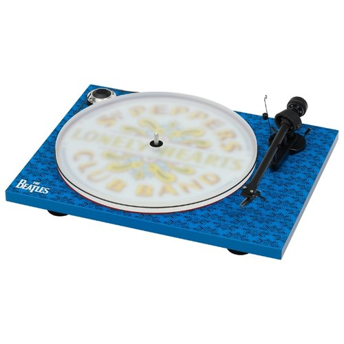 Виниловый проигрыватель Pro-Ject Essential III Sgt. Pepper's Drum синий виниловый проигрыватель pro ject essential iii white om 10