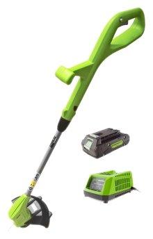 Триммер greenworks 2101207ua 24V G24LT30 Basic, с АКБ и ЗУ