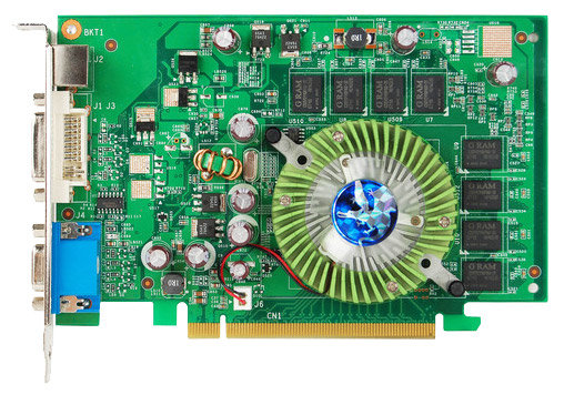 Biostar GeForce 8400 GS 450Mhz PCI-E 512Mb 533Mhz 64 bit DVI TV HDCP YPrPb