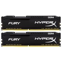 Модуль памяти DDR4 32GB (2*16GB) Kingston HX426C16FBK2/32 HyperX FURY Black PC4-21300 2666MHz CL16 1.2V Радиатор RTL