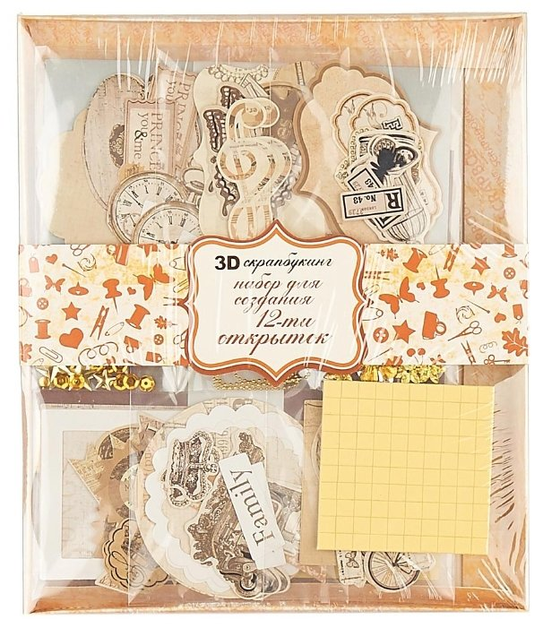 Набор для создания открыток Белоснежка 11,5x17 см, 12 шт, Ретро