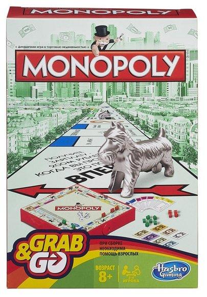Настольная игра Hasbro games Monopoly Дорожная версия