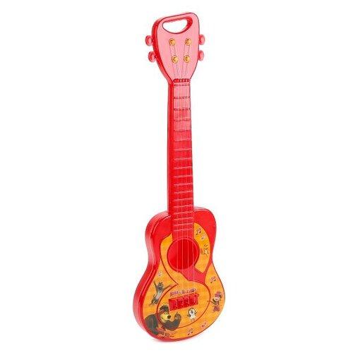 Купить Играем вместе гитара Маша и Медведь B1331458-R красный/желтый, Детские музыкальные инструменты