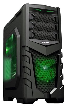 GameMax Компьютерный корпус GameMax G530 Black/green