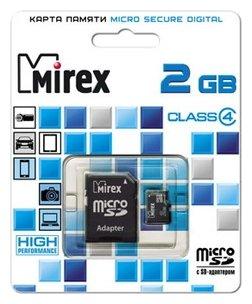 Mirex microSD Class 4 + SD adapter