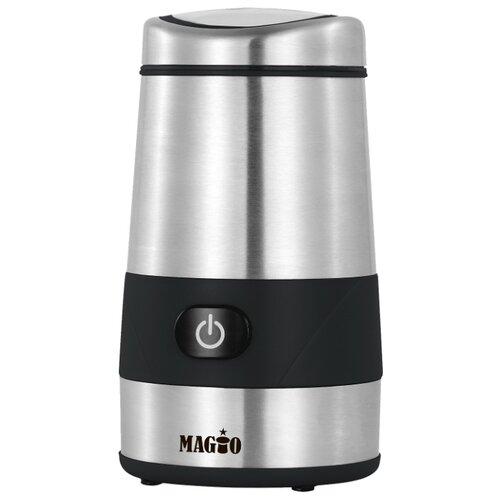 Кофемолка Magio МG-202 серебристый/черный