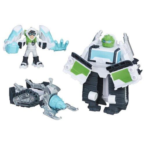 Купить Трансформер Playskool Transformers Билдер. Набор спасателей (Трансформеры-спасатели) C0333 белый/серый/голубой, Роботы и трансформеры