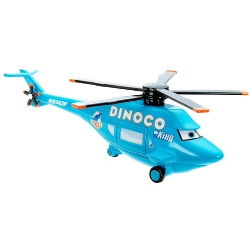 Купить Вертолет Mattel Cars Deluxe Dinoco Helicopter (Y0539/Y0551) 1:50 12 см голубой, Машинки и техника