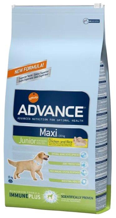 Корм для собак Advance Maxi Junior курица и рис