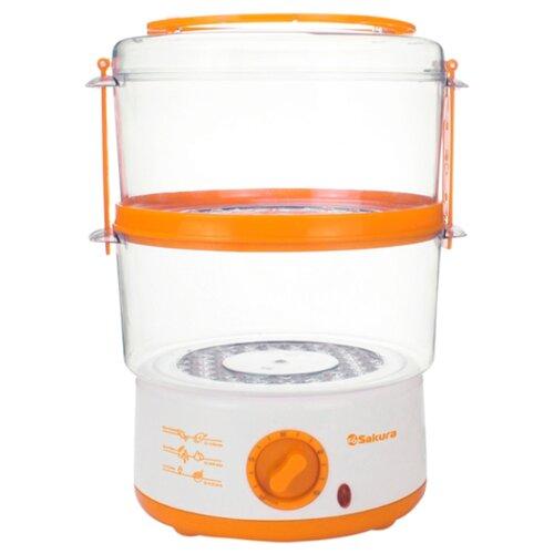 Пароварка Sakura SA-7213 белый/оранжевый