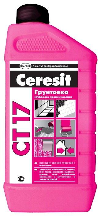 Грунтовка Ceresit CT 17 глубокого проникновения (1 л)