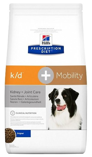 Корм для собак Hill's Prescription Diet K/D+Mobility Canine Original dry