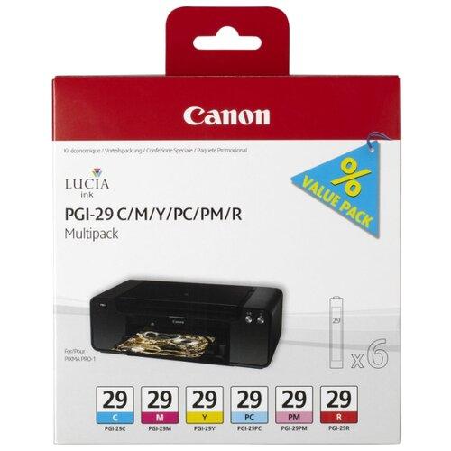 Фото - Набор картриджей Canon PGI-29 C/M/Y/PC/PM/R Multipack (4873B005) r o c s зубочистки джордан карманная упаковка 100 шт