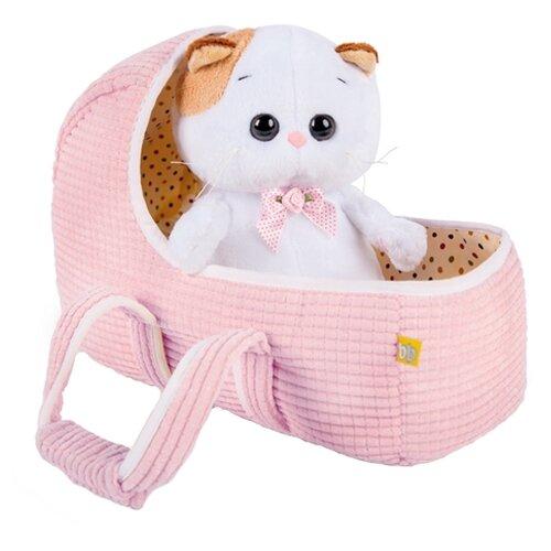 Купить Мягкая игрушка Basik&Co Кошка Ли-Ли baby в люльке 20 см, Мягкие игрушки