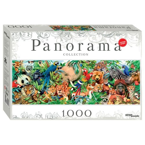Купить Пазл Step puzzle Panorama Мир животных (79402), 1000 дет., Пазлы