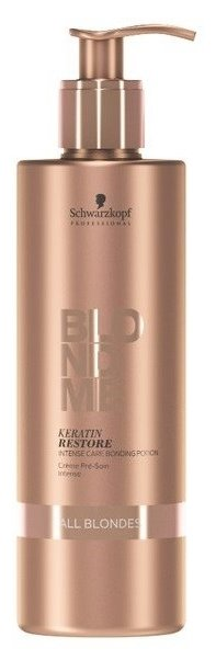 Blondme Keratin Restore Бондинг-эссенция для интенсивного ухода за волосами любых оттенков блонд