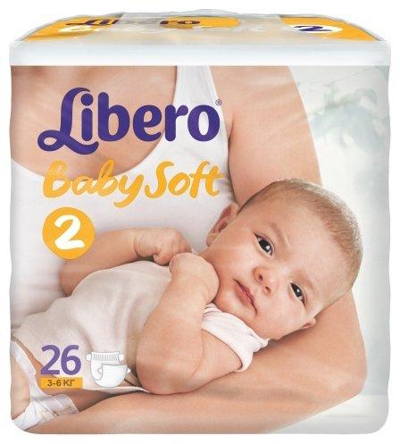 Libero подгузники Baby Soft 2 (3-6 кг) 26 шт.