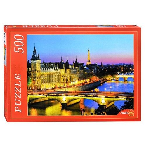 Пазл Рыжий кот Вид на Париж (КБ500-7910), 500 дет.