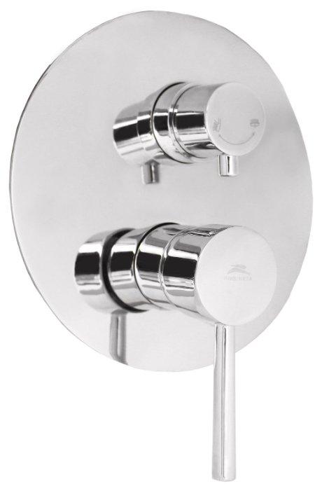 Смеситель для ванны с душем Rubineta Kubo-2F Ultra однорычажный встраиваемый хром