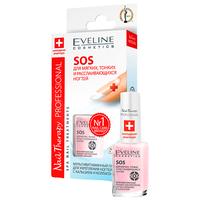 Eveline cosmetics nail therapy professional sos для хрупких и ломких ногтей мультивитаминный препарат для укрепления ногтей 12мл
