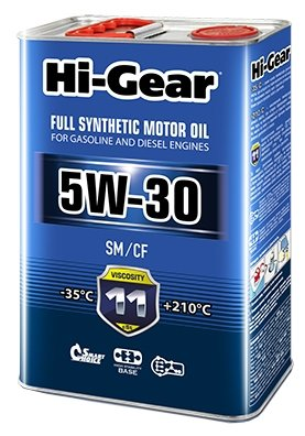 Моторное масло Hi-Gear 5W-30 SM/CF 4 л