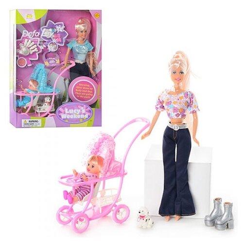 Купить Набор кукол Defa Lucy Мама с малышом 29 см 20958, Куклы и пупсы