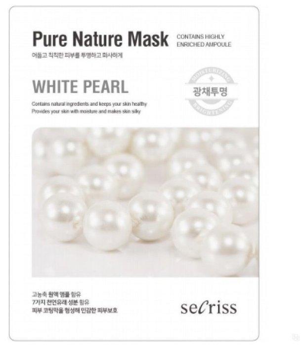 Anskin маска тканевая Secriss Pure Nature Mask Pack White Pearl с экстрактом жемчуга