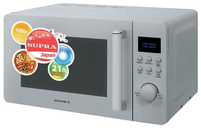 Микроволновая печь Supra MWS-2103TS 21 л серебристый