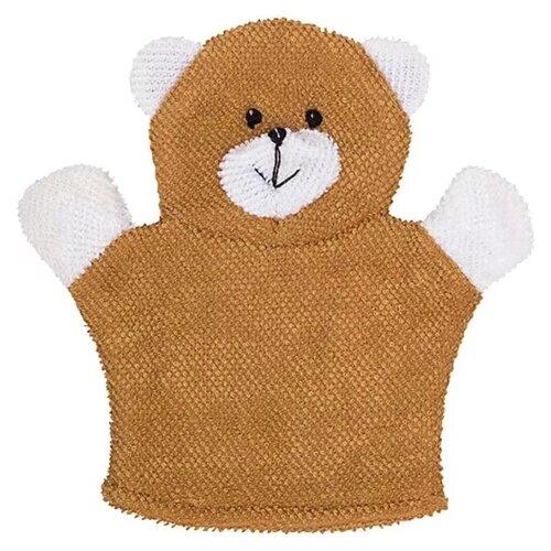 Мочалка ROXY-KIDS Baby Bear коричневый/белый