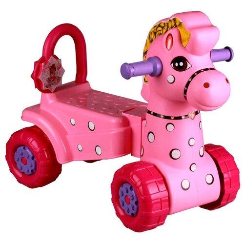 Купить Каталка-толокар Альтернатива Лошадка (М3895/М3896) розовый, Каталки и качалки