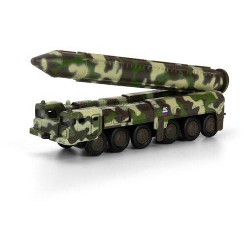 Купить Ракетная установка ТЕХНОПАРК РСЗО Тополь (SB-16-20-M-WB) 15 см зеленый камуфляж, Машинки и техника