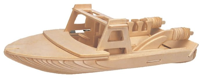 Сборная модель Мир деревянных игрушек Катер (П091),,