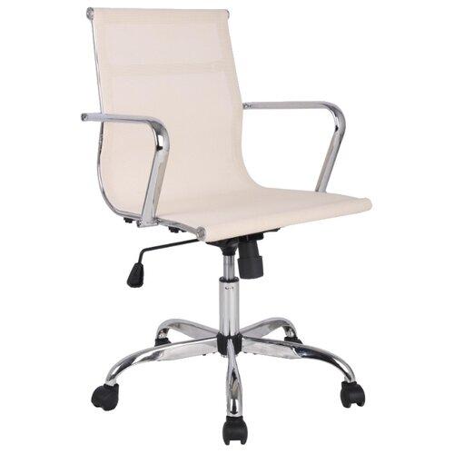 цена Компьютерное кресло College H-966F-2, обивка: текстиль, цвет: слоновая кость онлайн в 2017 году