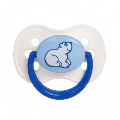 Купить Пустышка латексная классическая Canpol Babies Animals Continents 0-6 м (1 шт) белый, Пустышки и аксессуары